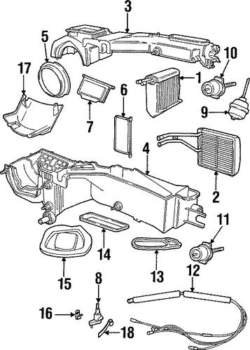 evaporator  u0026 heater components for 1997 jeep cherokee