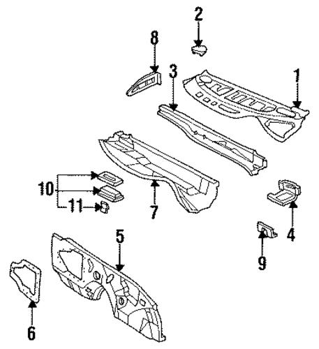 cowl 2000 pontiac firebird oem  u2013 new gm parts