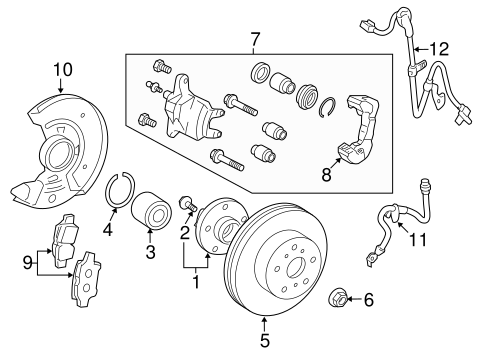 BRAKES/BRAKE COMPONENTS for 2016 Toyota Yaris #1