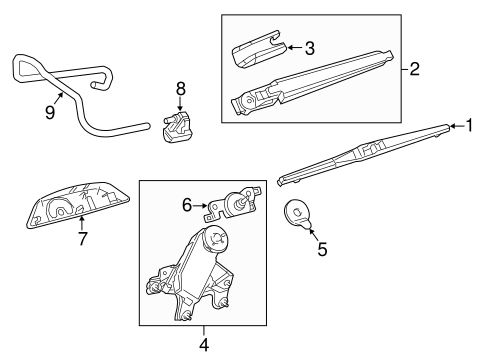 BODY/WIPER & WASHER COMPONENTS for 2014 Toyota Highlander #3