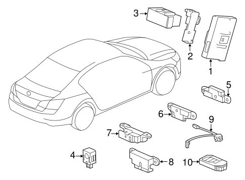 Fob Assembly, Entry Key (Driver 1) - Honda (72147-T2A-A11)