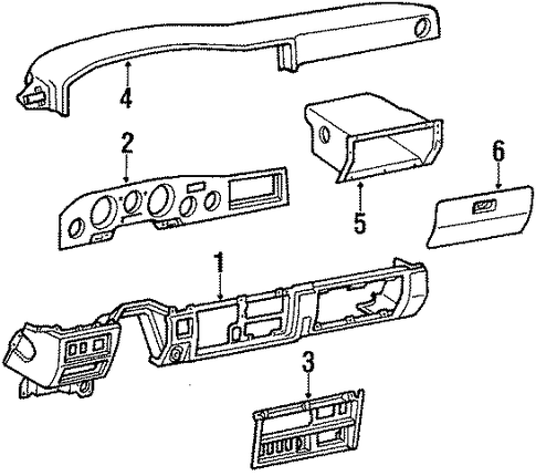 Glove Box - Toyota (55501-90A00-05)