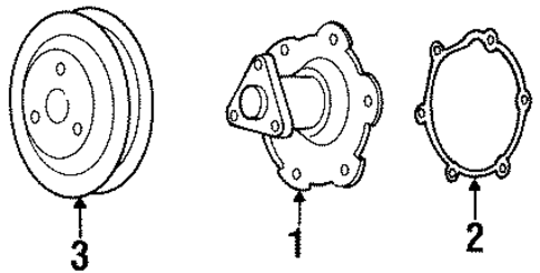 WATER PUMP ASSY GASKET