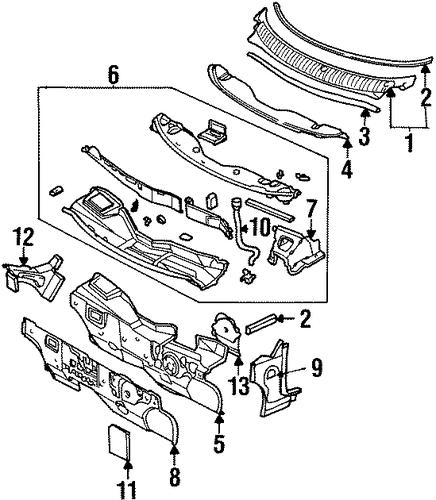 chrysler aspen steering column parts