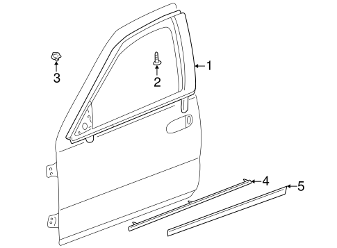 Lower Molding - GM (25693997)