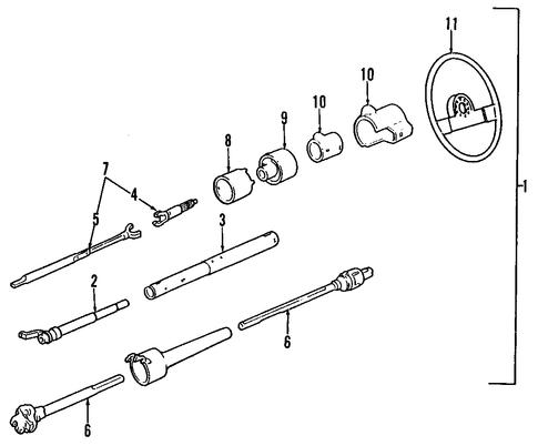 oem steering column for 1994 gmc sonoma