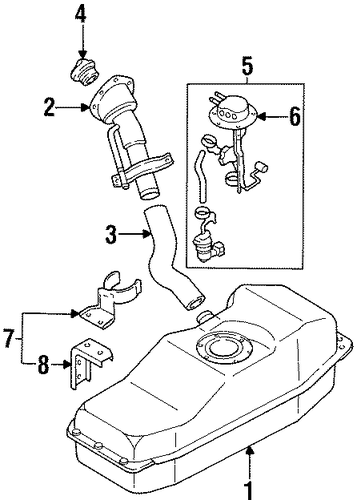 fuel system components for 1990 nissan d21