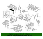 2001 Honda ACCORD SEDAN DX GASKET, IN. MANIFOLD (GEMSTONE) - (17115PAAA01)