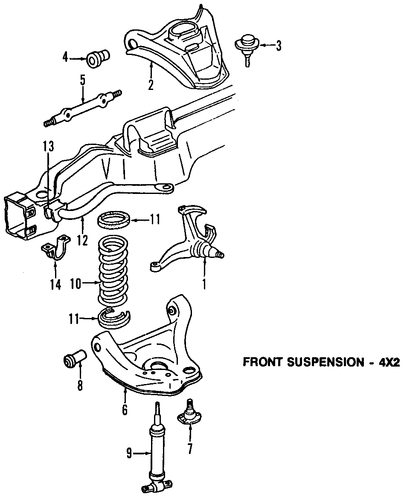 suspension components parts for 2000 gmc safari