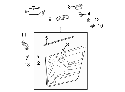 Door Trim Panel - Toyota (67610-02A90-B1)