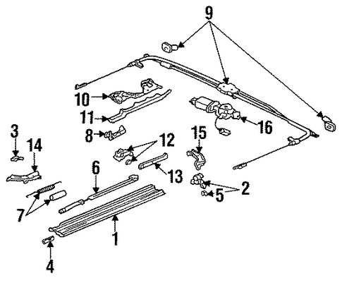 OEM Honda 70400-SS0-003 - Cable Assembly, Sunroof