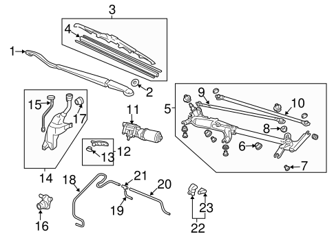 OEM Honda 76600-SHJ-A11 - Wiper Arm