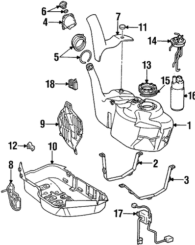 FUEL SYSTEM/FUEL SYSTEM COMPONENTS for 1996 Toyota Supra #2
