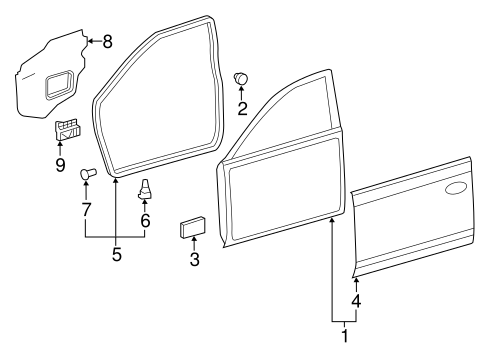 BODY/DOOR & COMPONENTS for 2008 Toyota Camry #2