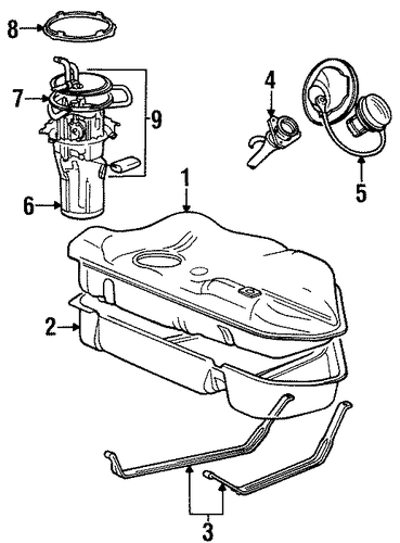 fuel system components for 1999 ford taurus