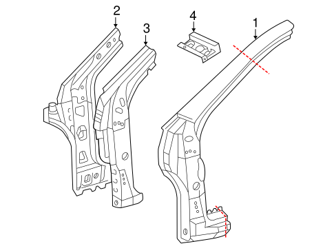 BODY/HINGE PILLAR for 2004 Scion xA #1