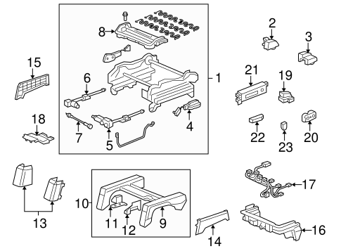 Seat Adjust Assembly Rear Cover - Honda (81553-SHJ-A21ZJ)