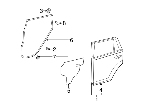 BODY/DOOR & COMPONENTS for 2014 Scion xB #1