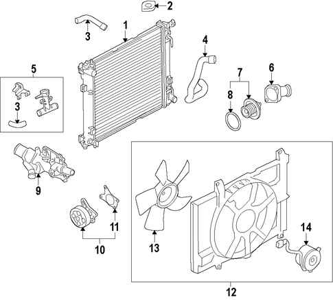 radiator  u0026 components for 2015 nissan versa