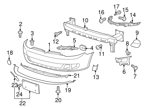 bumper components front   volkswagen jetta vwpartscente