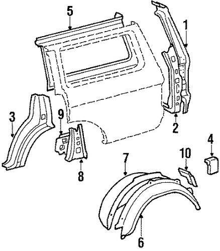 Lock Pillar Reinforcement - Toyota (61706-90A27)