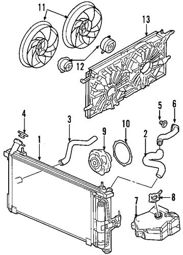 pontiac aztek cooling system diagram