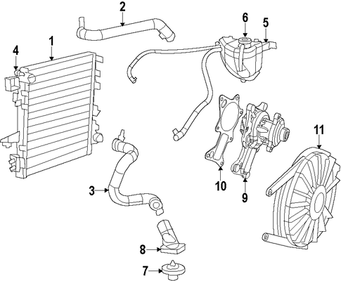 cooling system for 2007 jeep wrangler