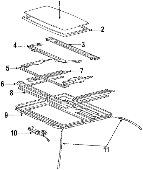 Guide Rail - Toyota (63207-20060)
