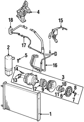 oem condenser  compressor  u0026 lines for 1998 cadillac catera
