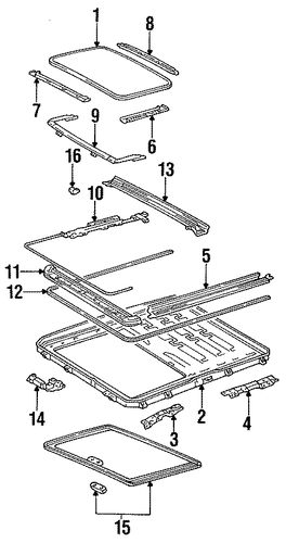 BODY/SUNROOF for 1996 Toyota Camry #1
