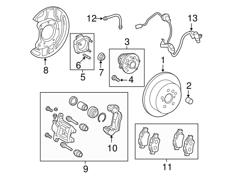 BRAKES/REAR BRAKES for 2014 Toyota Sienna #2
