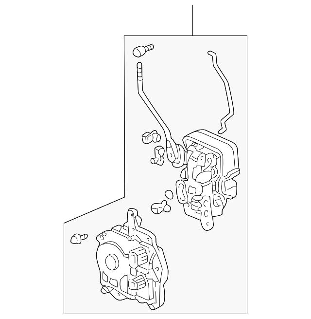OEM Honda 72110-S2A-A01 - Lock Assembly