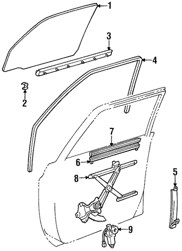 Guide Channel - Toyota (67403-60010)