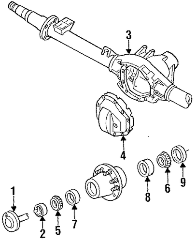axle housing for 1996 ford f