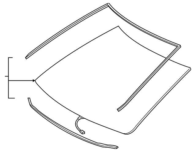 Windshield - Toyota (56101-06560)
