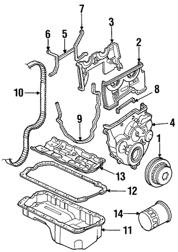 OEM Honda 14400-P13-014 - Timing Belt