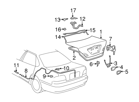 BODY/LID & COMPONENTS for 2002 Toyota Avalon #1