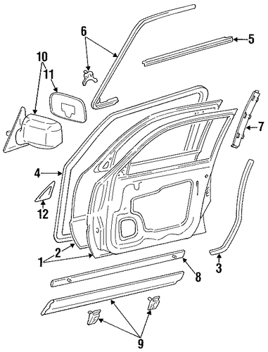 Weather-Strip On Body - Toyota (62311-33020)