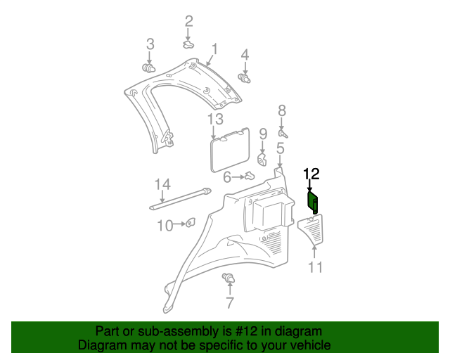 Rear Cover - Toyota (64745-42011)