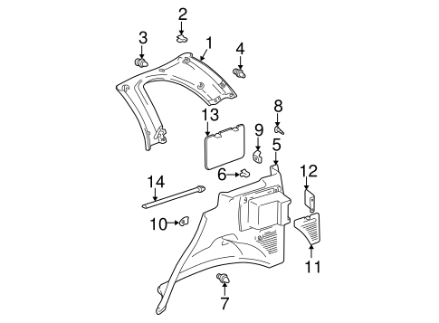 Lower Quarter Trim - Toyota (64731-42011-E1)