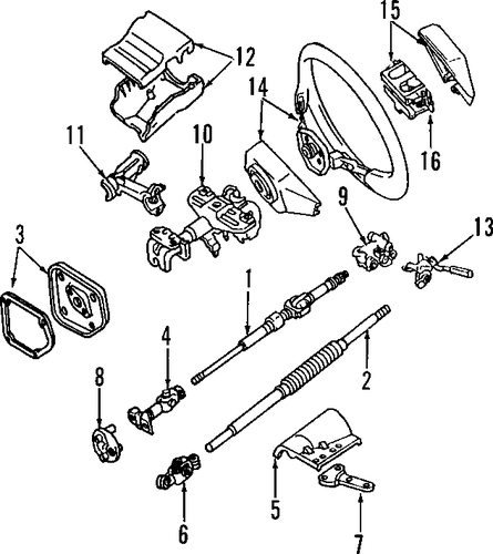 steering column for 1992 toyota land cruiser