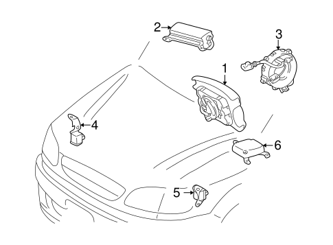 ELECTRICAL/AIR BAG COMPONENTS for 2000 Toyota Sienna #1