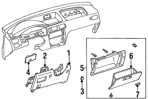 Glove Box Assembly - Toyota (55045-16060-B1)
