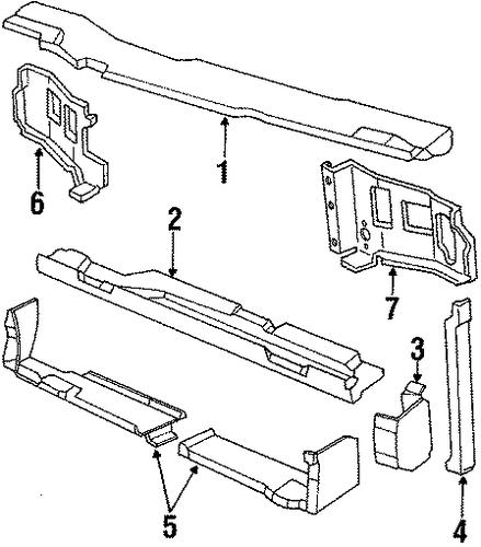 Radiator Support For 1989 Chevrolet Cavalier  Z24