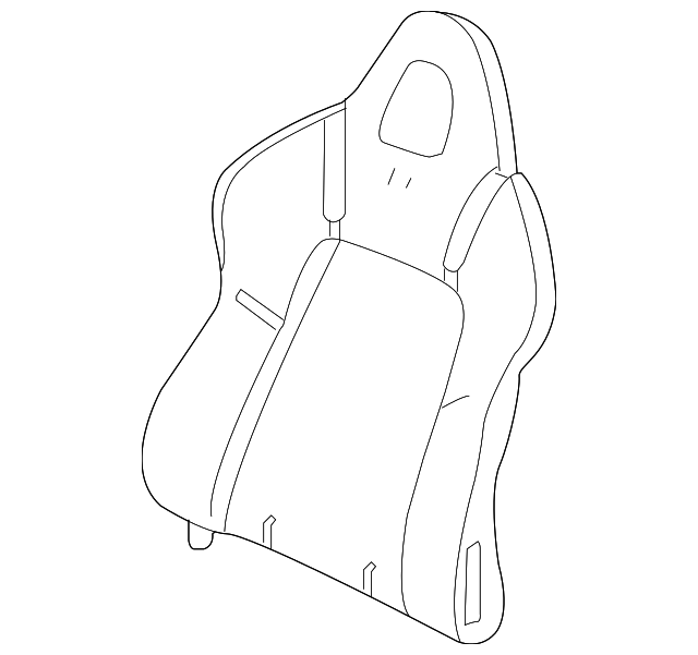 Pad & Frame, R Front Seat-Back - Honda (81122-S2A-J11)