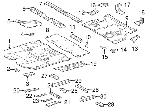Rear Bracket - Toyota (58342-0E010)