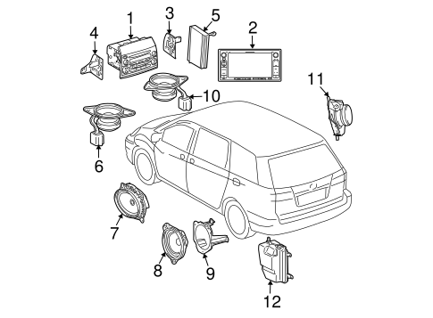 ELECTRICAL/GLOBAL POSITIONING SYSTEM for 2009 Toyota Sienna #1