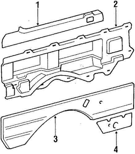 Trim Panel - Toyota (62640-28050-E1)