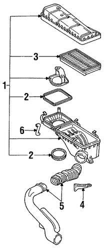 oem air inlet for 1995 saturn sl2
