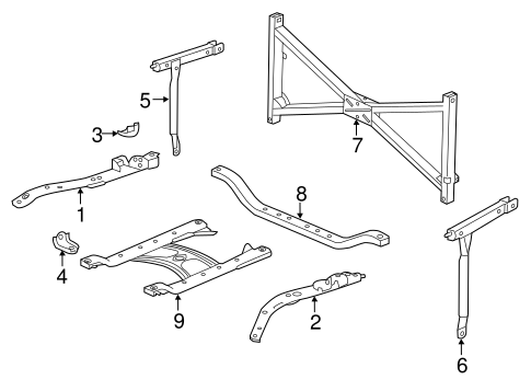OEM Honda 74951-T3V-A00 - Side Frame Upper Bracket